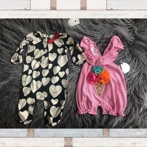 Bundle of 2 3-6 month baby outfits